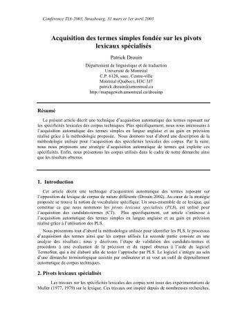 PDF (52KB) - Observatoire de linguistique Sens-Texte (OLST)