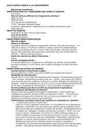 AVIS D'APPEL PUBLIC A LA CONCURRENCE Marché de ...
