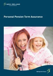 Personal Pension Term Assurance Brochure - New Ireland Assurance