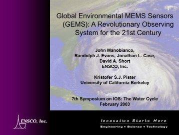 Global Environmental MEMS Sensors (GEMS): A Revolutionary ...