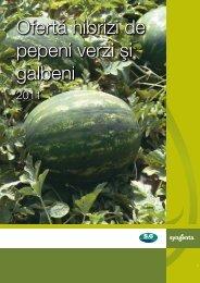 Ofertœ hibrizi de pepeni verzi ¡i galbeni - ecoplant.ro