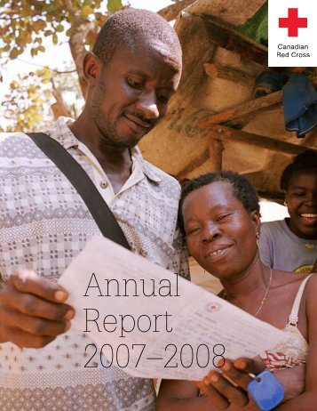 Annual Report 2007–2008 - Canadian Red Cross