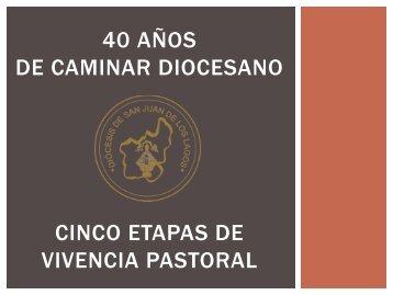 40 años de caminar diocesano Cinco etapas de vivencia pastoral