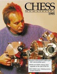 CHESS Newsletter 1995 - Cornell High Energy Synchrotron Source ...