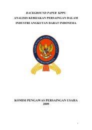 Background Paper Analisis Kebijakan Persaingan dalam ... - KPPU