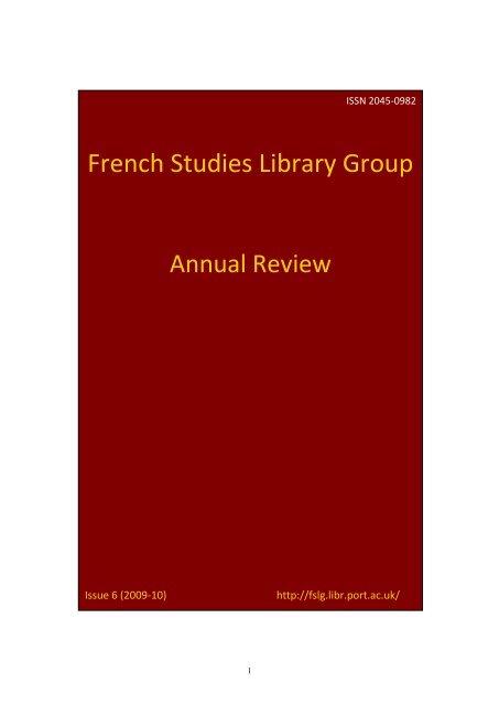 FSLG Annual Review - Senate House Libraries - University of London
