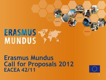 Erasmus Mundus Call for Proposals 2012 - Agence Europe ...
