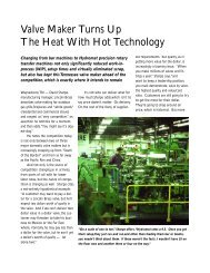 Valve Maker Turns Up The Heat With Hot Technology - Hydromat