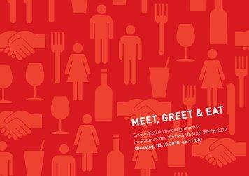 Einladung Meet, Greet & Eat - Designforum