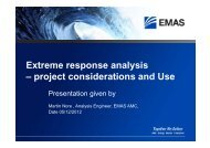 Extreme response analysis – project considerations and Use