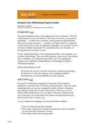 Analyze Your Marketing Program Costs - CR Advisors