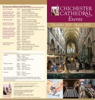 Events Leaflet Dec - March 2012 - Chichester Cathedral