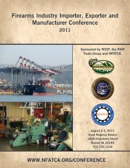 Firearms Industry Importer, Exporter and Manufacturer Conference