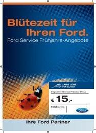 Blütezeit für Ihren Ford. - Heister Gruppe