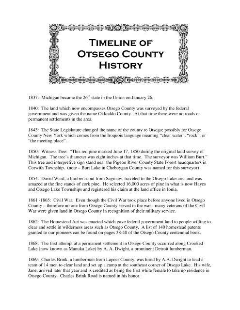 hook up timeline