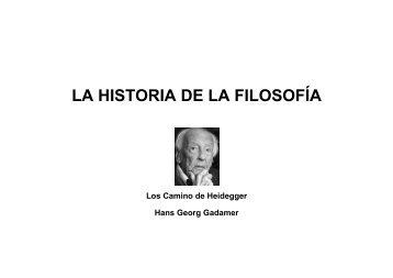 Heidegger y la Historia de la Filosofía