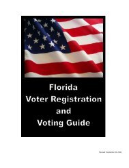 2010 Florida Voter Registration and Voting Guide - Florida Division ...