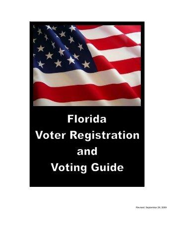 2010 Florida Voter Registration and Voting Guide - Florida Division ...