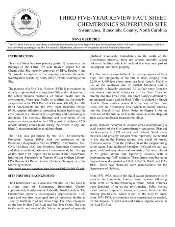third five-year review fact sheet chemtronics superfund site