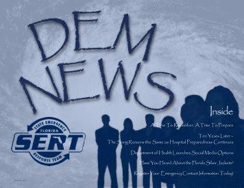 FDEM Newsletter for 2011 Fall Quarter - Florida Division of ...