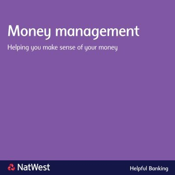 Money management brochure - NatWest