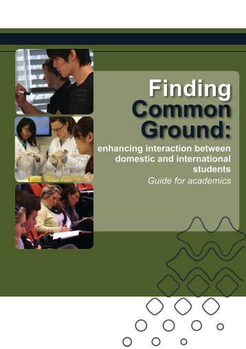Finding Common Ground: - Centre for the Study of Higher Education ...