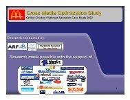Cross Media Optimization Study - Swiss Media Tool