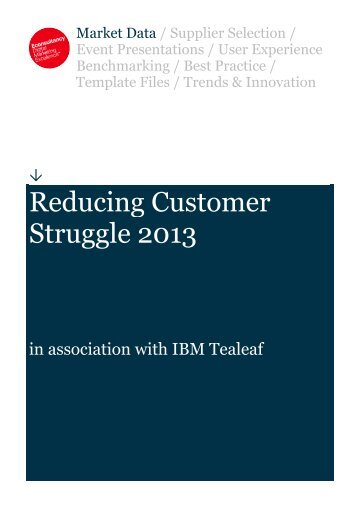 Reducing Customer Struggle 2013 - Retail Excellence Ireland