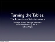 The Evaluation of Administrators - Michigan Association of ...