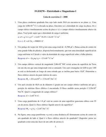 FGE0270 – Eletricidade e Magnetismo I - Plato