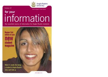 Issue 1 - My.Anglia Homepage - Anglia Ruskin University