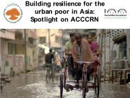 Building resilience for the urban poor in Asia ... - Resilient Cities