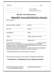 Europe-Meldung 2012 - Wettfahrtgemeinschaft Dümmer eV
