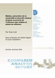 Médias, prévention de la criminalité et sécurité urbaine: Analyse ...