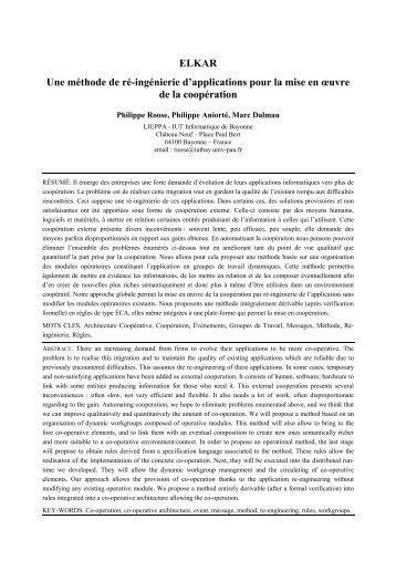 5. La plate-forme coopérative - IUT Bayonne - Université de Pau et ...