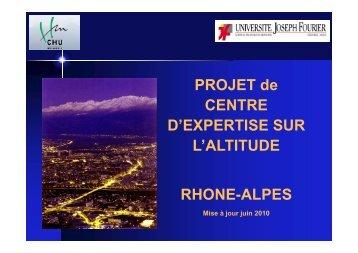 projet de centre d'expertise sur l'altitude - Club des Cardiologues du ...