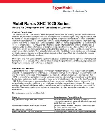Mobil Rarus SHC 1020 Series - Lindberg & Lund AS