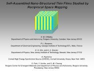 Self-Assembled Nano-Structured Thin Films Studied by Reciprocal ...