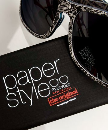 Paperstyle eyewear made in Italy