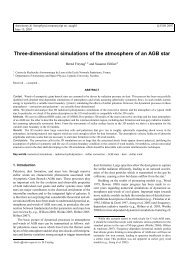 Three-dimensional simulations of the atmosphere of an AGB star