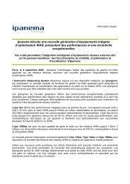 Ipanema dévoile une nouvelle génération d'équipements intégrés d ...
