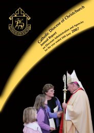 2007 Annual Report.pdf - Catholic Diocese of Christchurch