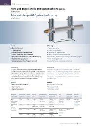 Rohr und Bügelschelle mit Systemschiene E30 / E90 Tube and ...
