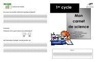 1er cycle Mon carnet de science - Science en ligne