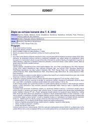 Zápis ze schůze konané dne 7. 6. 2002