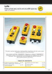 Pit bottom push button stations, recall drive control units ... - Transmo