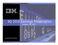 4Q 2010 Earnings Presentation - IBM