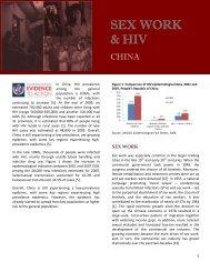 Sex Work and HIV China - AIDS Data Hub