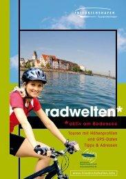 Broschüre Radwelten - Friedrichshafen