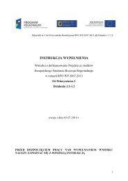 Instrukcja wypełnienia wniosku o dofinansowanie projektu w ...